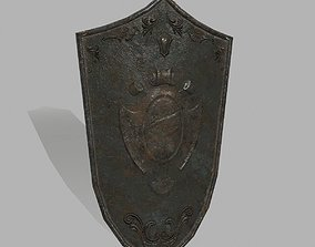 Shield 3D asset game-ready glaive