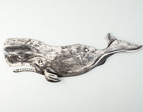 Hand-Carved Sperm Whale 6 3D model