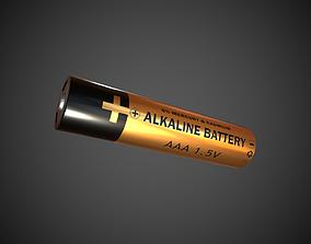 3D asset AAA Battery Alkaline Battery