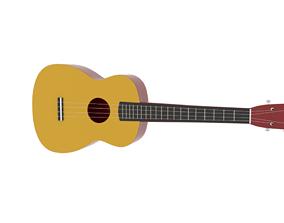 stylish Hawaiian ukulele 3D asset
