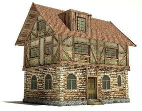 Medieval House 3D model realtime
