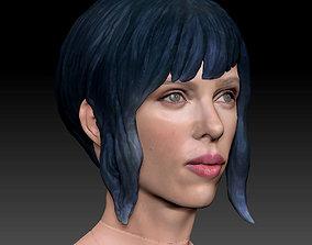 Ghost in The Shell Scarlett Johansson 3D Model