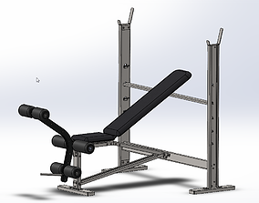 3D GYM BENCH PRESS