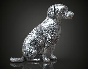Dog charm silver pendant 3D print model