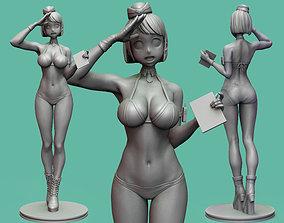 Sexy Stewardess 3D print model