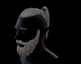 Hair tail beard 3D model