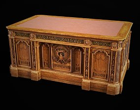 3D model Resolute Desk of the Oval Office