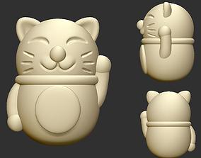 cartoon Lucky Cat 3D printable model