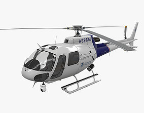 AS-350 US Customs and Border 3D asset