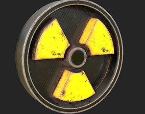 Radiation Sign 3D asset