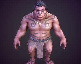 primitive Man savage 3D model