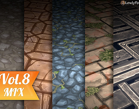 Stylized Ground Vol 08 - Hand Painted Texture 3D model