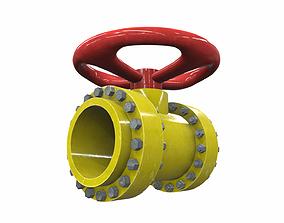 3D Industrial pipeline valve 5