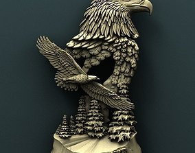 Twin eagles 3d stl model for cnc miniatures