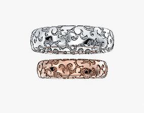 Wedding Rings Ornament V1 3D print model