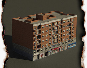 Building brick 3D model low-poly