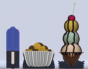 ice cream 3D miscellaneous dessert