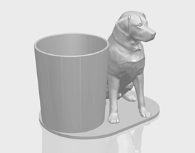 marble Dog 3D Model