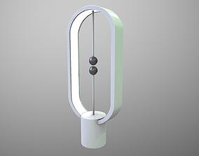 Futuristic Magnetic Lamp 3D asset