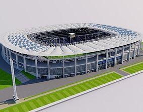 3D asset game-ready Commerzbank-Arena - Frankfurt