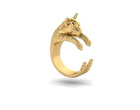 my DOg 3D print model diamond-ring