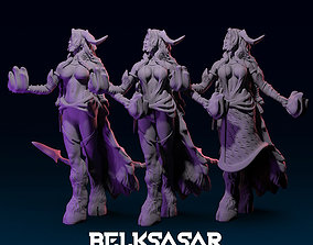 Girl Tiefling Succubus Conjurin 2 version 3D print model 1