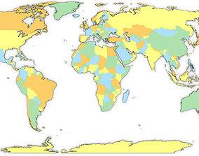 3D Political World Map