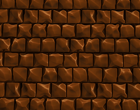 Paving stones 3D asset animated