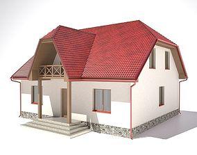 3D model House urban