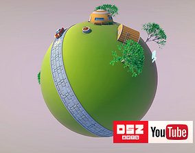 3D model King Kai Planet - Dragon Ball Z