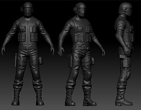 storm-trooper High Poly Soldier 3D