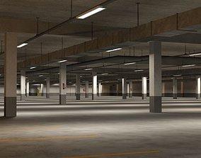 city Underground parking garage 02 3D