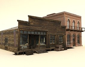 Low Poly Wild West Buildings2 3D model