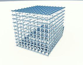cube grid 3D
