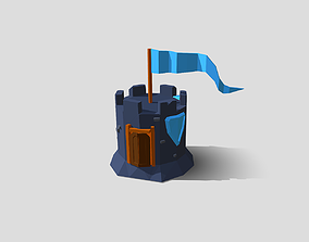 Tower Low-Poly 3D asset