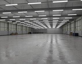 3D asset Industrial Warehouse Interior 3b
