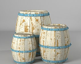 whiskey 3D asset low-poly Barrel