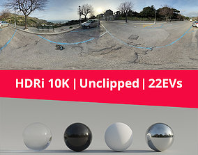 3D HDRi Parking Landscape and Sunset