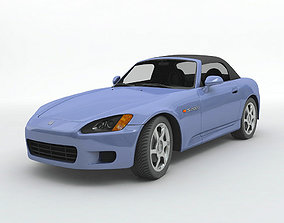 2003 Honda S 2000 Convertible Sports Car 3D