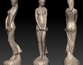 3D printable model A beautiful woman