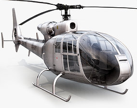 Aerospatiale SA Gazelle Silver 3D model