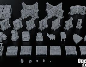 3D print model Sci Fi Terrain Pack 01