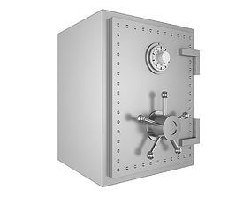 Steel Bank Safe 3D