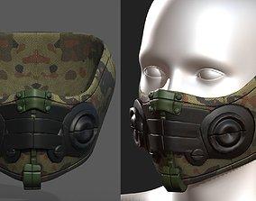 Gas mask respirator scifi futuristic game-ready 1