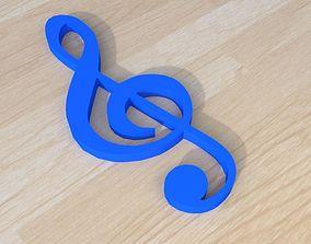 Key of sol present 3D printable model