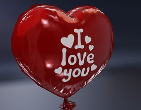 3D asset Balloon Heart Shaped