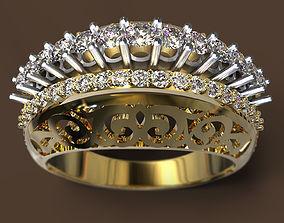 gold diamond 3D printable model Ring