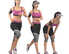 Running girl 3D