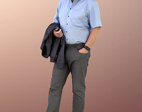 3D model 11318 Phil Man business standing old elderly bald