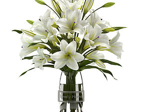 3D white lilly